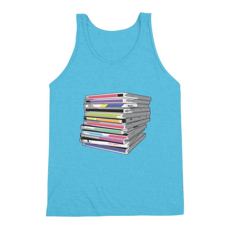 Cd Collection JQBX Men's Triblend Tank by JQBX Store - Listen Together