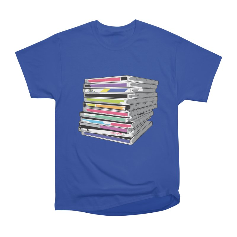 Cd Collection JQBX Men's Heavyweight T-Shirt by JQBX Store - Listen Together