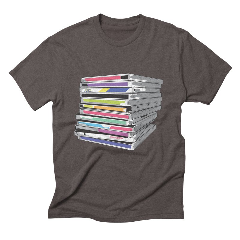 Cd Collection JQBX Men's Triblend T-Shirt by JQBX Store - Listen Together