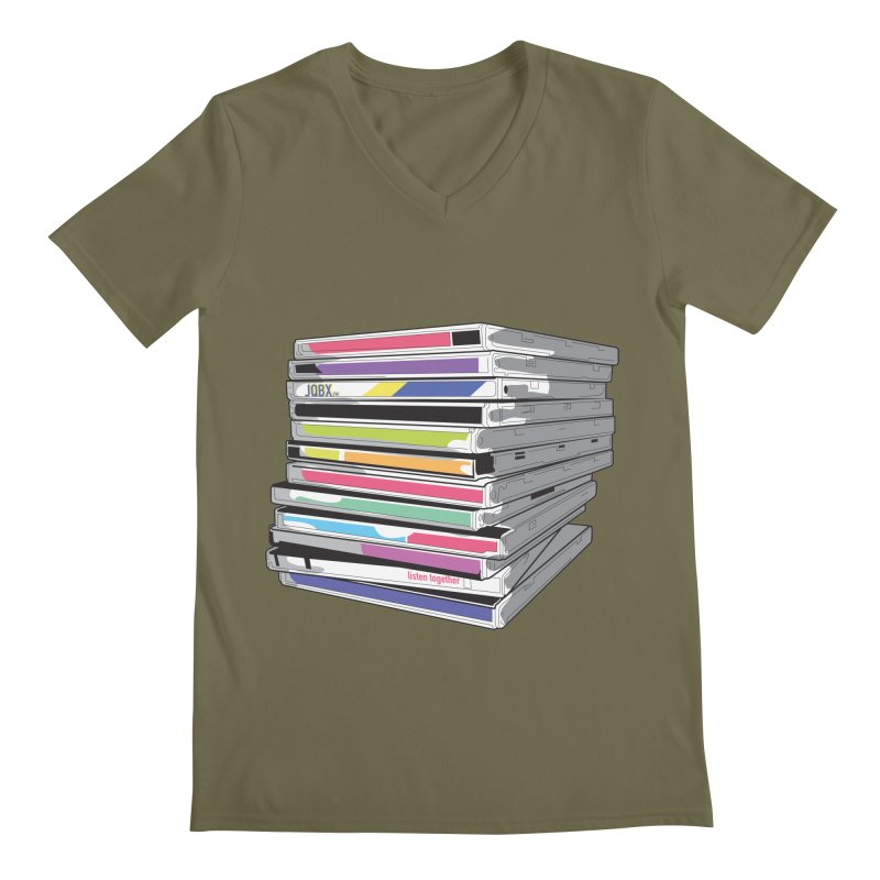 Cd Collection JQBX Men's Regular V-Neck by JQBX Store - Listen Together