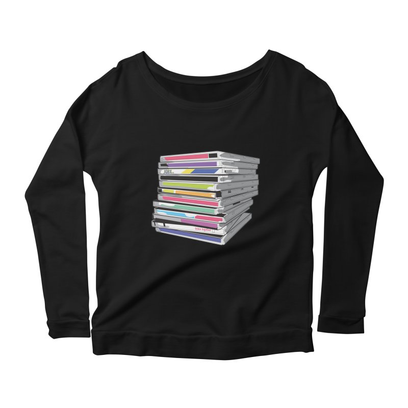 Cd Collection JQBX Women's Scoop Neck Longsleeve T-Shirt by JQBX Store - Listen Together