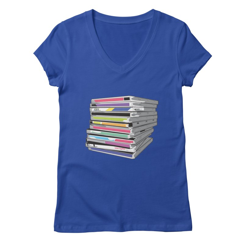 Cd Collection JQBX Women's Regular V-Neck by JQBX Store - Listen Together