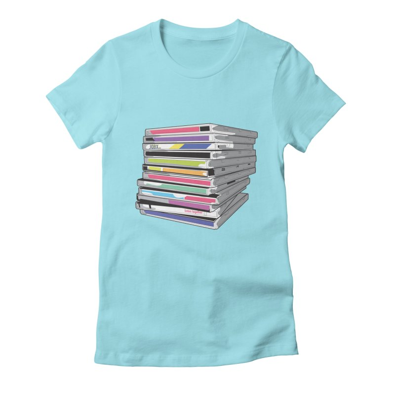 Cd Collection JQBX Women's Fitted T-Shirt by JQBX Store - Listen Together