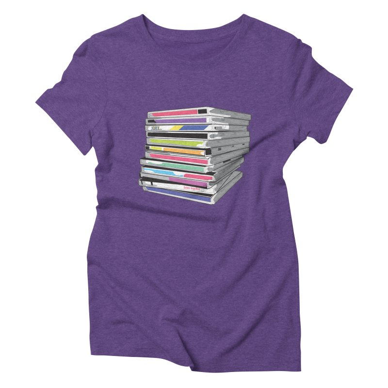 Cd Collection JQBX Women's Triblend T-Shirt by JQBX Store - Listen Together