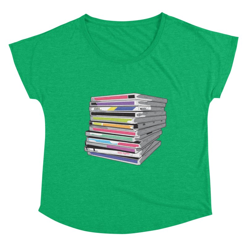 Cd Collection JQBX Women's Scoop Neck by JQBX Store - Listen Together