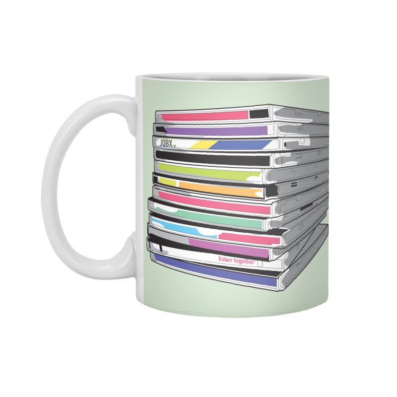 Cd Collection JQBX Accessories Standard Mug by JQBX Store - Listen Together