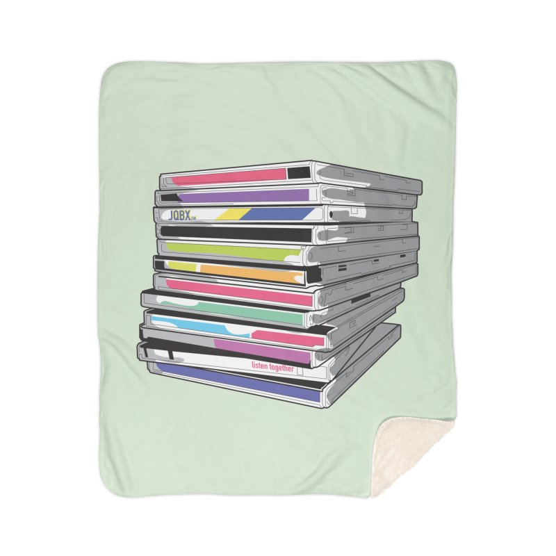 Cd Collection JQBX Home Sherpa Blanket Blanket by JQBX Store - Listen Together