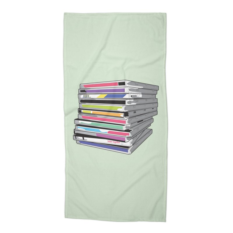 Cd Collection JQBX Accessories Beach Towel by JQBX Store - Listen Together