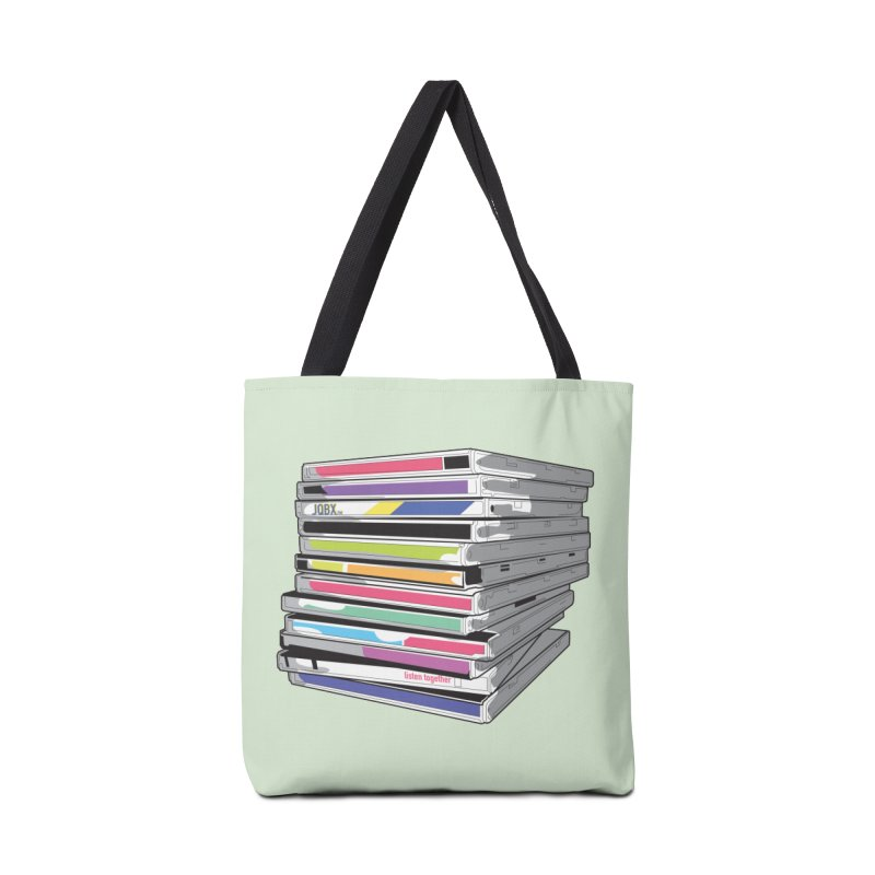 Cd Collection JQBX Accessories Tote Bag Bag by JQBX Store - Listen Together
