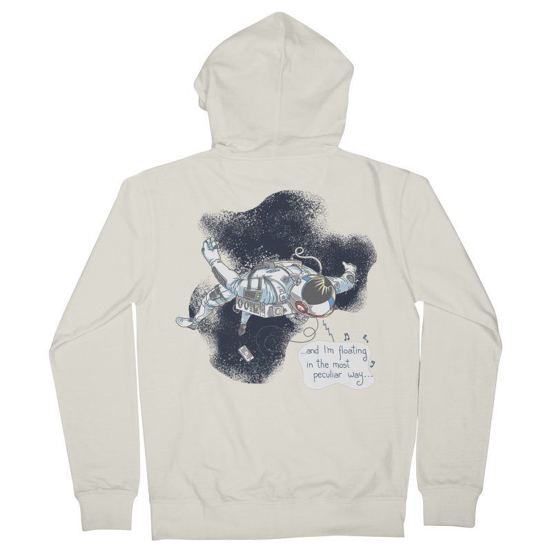 Dark Peculiar Oddity Women's French Terry Zip-Up Hoody by JQBX Store - Listen Together