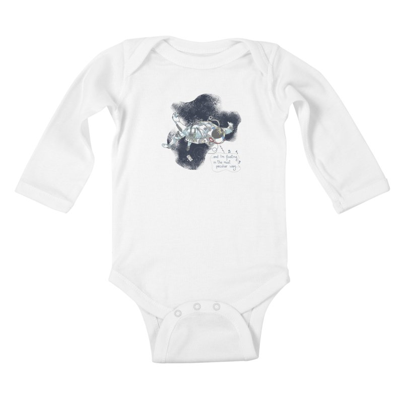 Dark Peculiar Oddity Kids Baby Longsleeve Bodysuit by JQBX Store - Listen Together