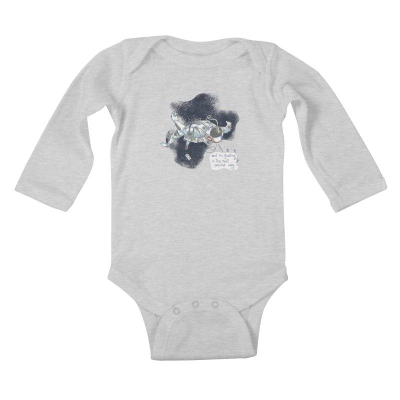 Dark Peculiar Oddity Kids Baby Longsleeve Bodysuit by JQBX Store - Listen Together