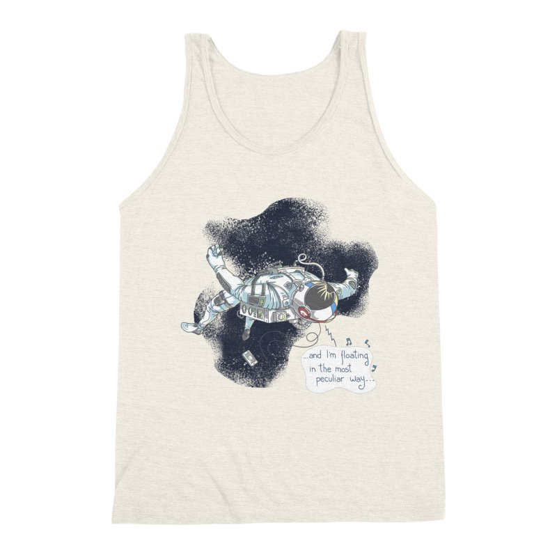 Dark Peculiar Oddity Men's Triblend Tank by JQBX Store - Listen Together