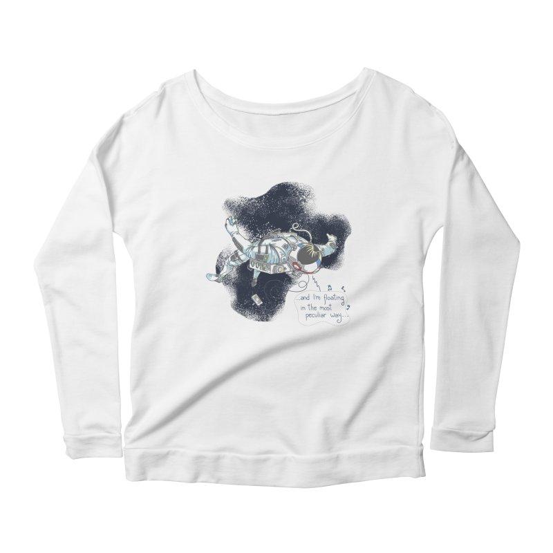 Dark Peculiar Oddity Women's Scoop Neck Longsleeve T-Shirt by JQBX Store - Listen Together