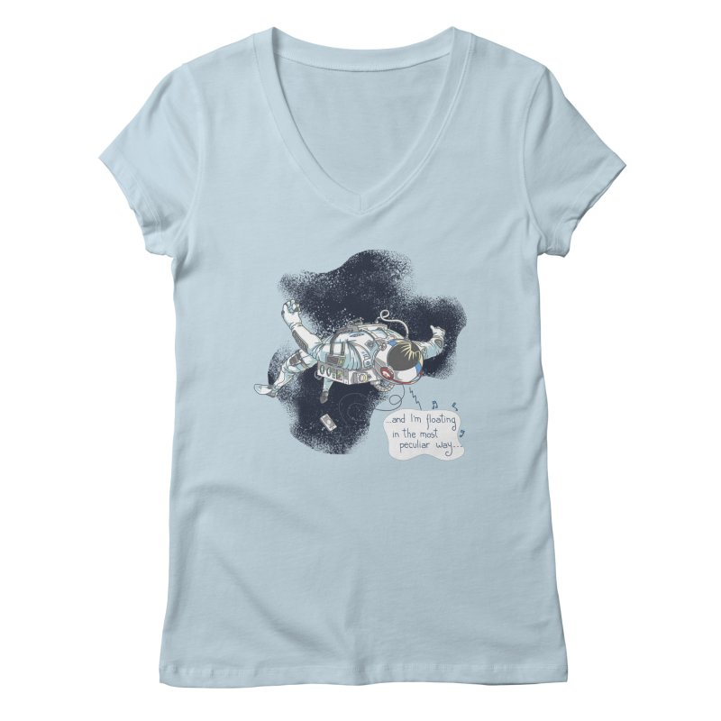 Dark Peculiar Oddity Women's V-Neck by JQBX Store - Listen Together