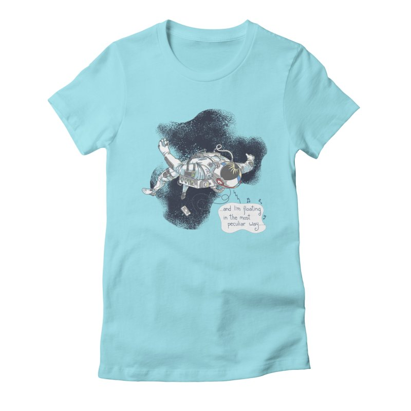 Dark Peculiar Oddity Women's Fitted T-Shirt by JQBX Store - Listen Together