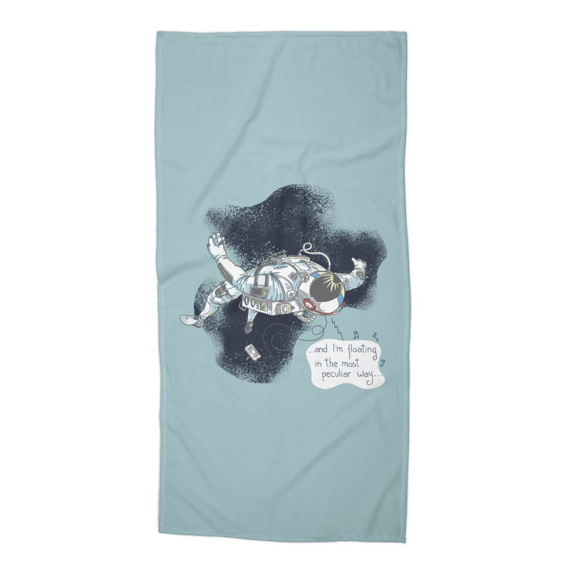Dark Peculiar Oddity Accessories Beach Towel by JQBX Store - Listen Together
