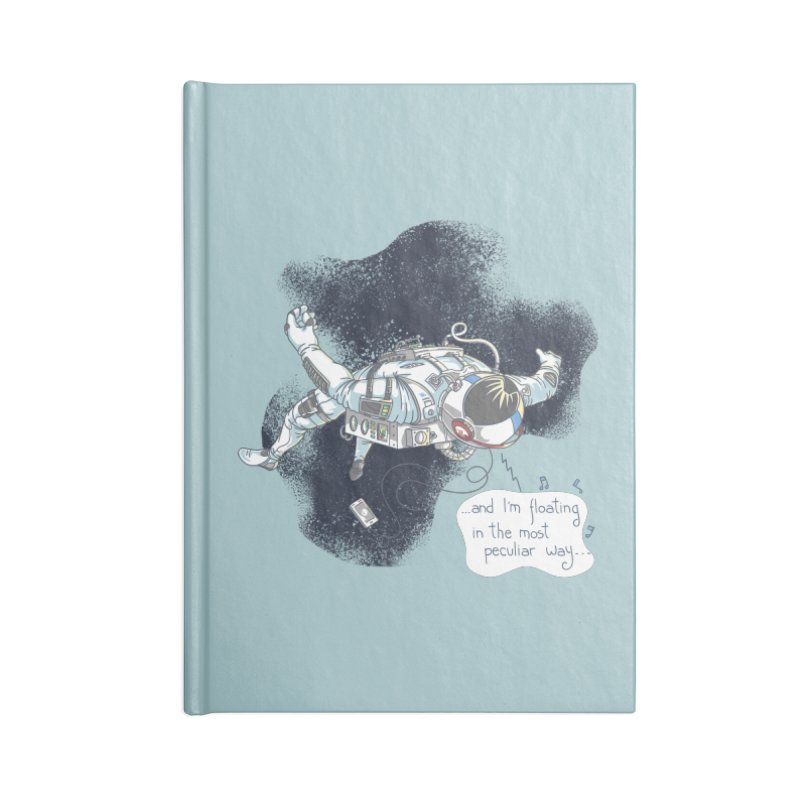 Dark Peculiar Oddity Accessories Lined Journal Notebook by JQBX Store - Listen Together