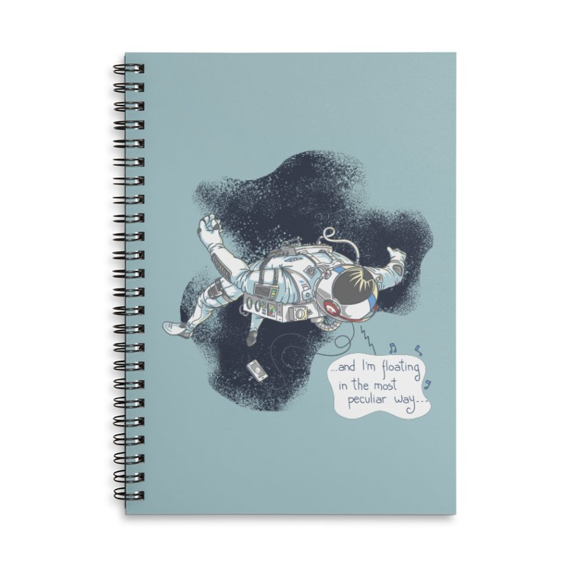 Dark Peculiar Oddity Accessories Lined Spiral Notebook by JQBX Store - Listen Together
