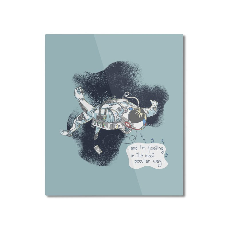 Dark Peculiar Oddity Home Mounted Aluminum Print by JQBX Store - Listen Together