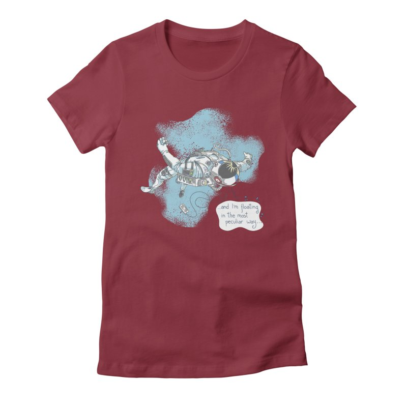 Bright Peculiar Oddity Women's Fitted T-Shirt by JQBX Store - Listen Together