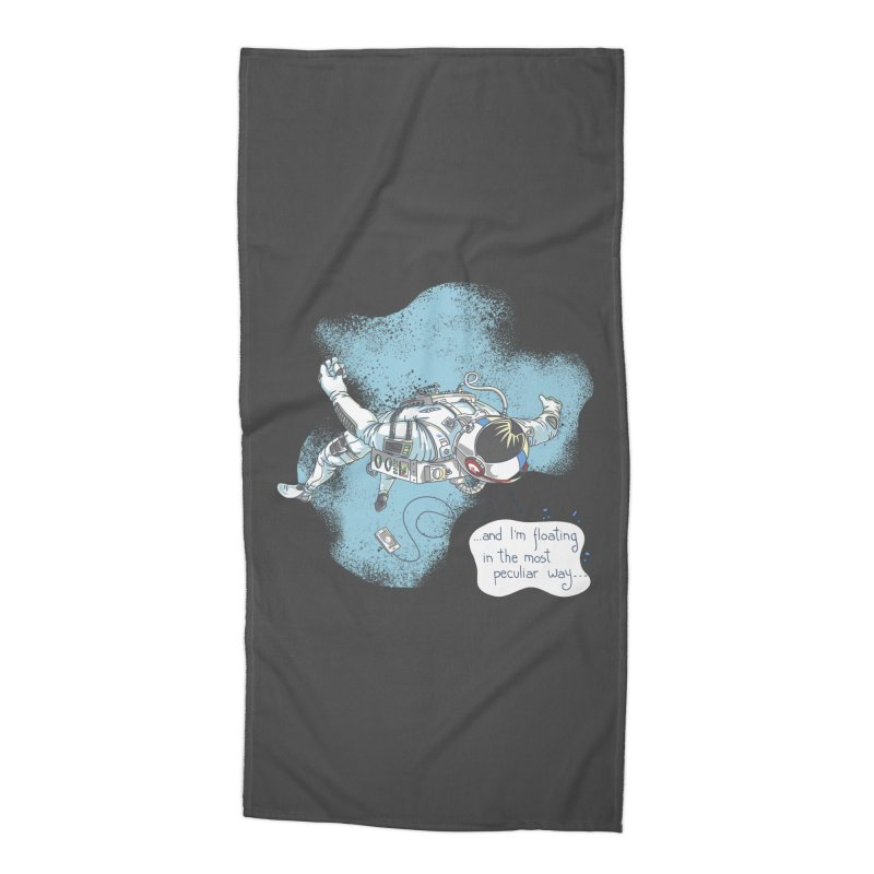 Bright Peculiar Oddity Accessories Beach Towel by JQBX Store - Listen Together