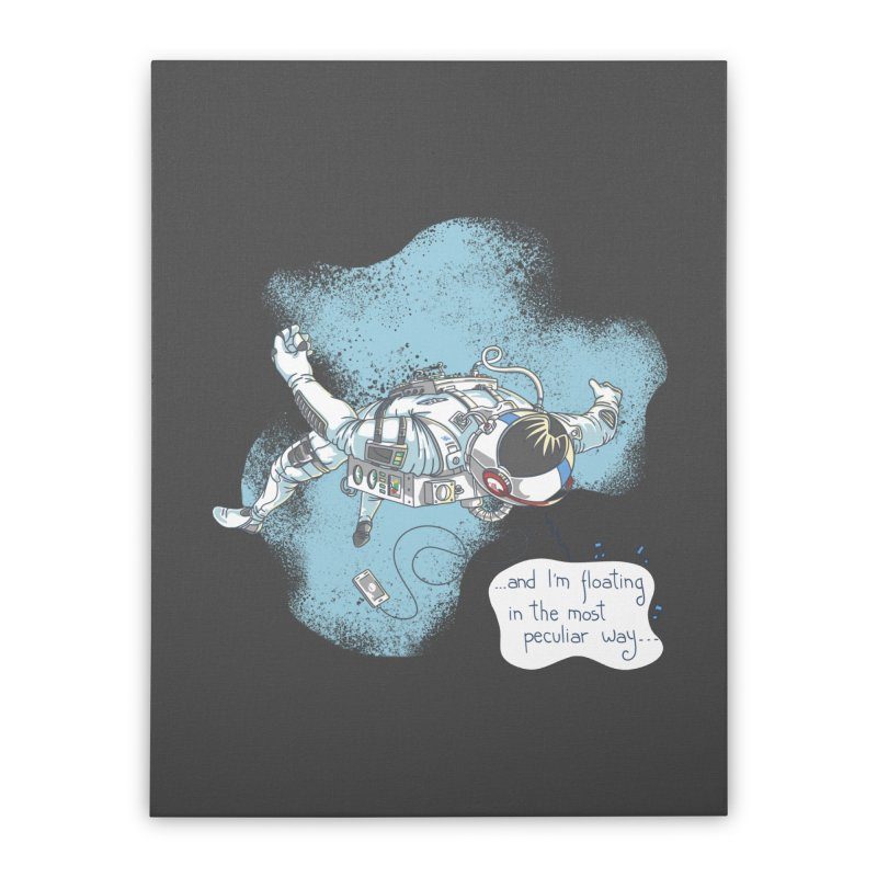 Bright Peculiar Oddity Home Stretched Canvas by JQBX Store - Listen Together