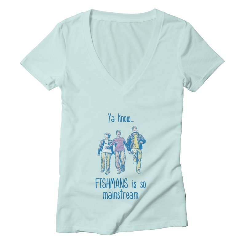 The Mainstreamers Fishmans Women's Deep V-Neck V-Neck by JQBX Store - Listen Together