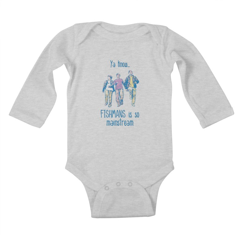 The Mainstreamers Fishmans Kids Baby Longsleeve Bodysuit by JQBX Store - Listen Together