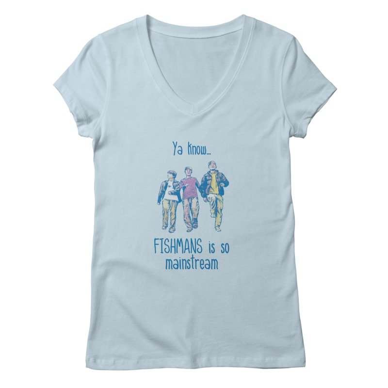 The Mainstreamers Fishmans Women's V-Neck by JQBX Store - Listen Together