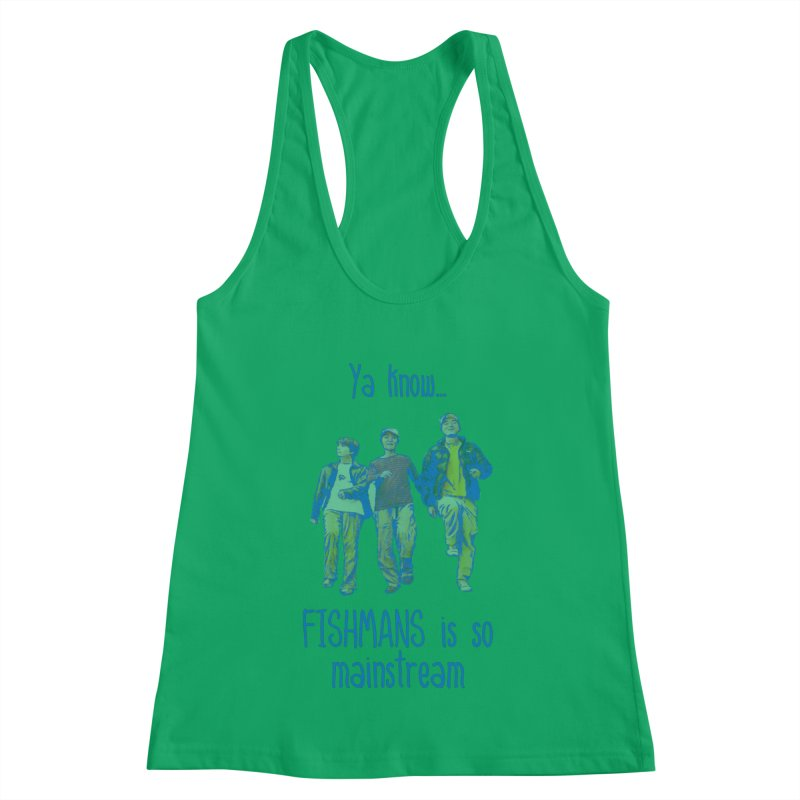 The Mainstreamers Fishmans Women's Racerback Tank by JQBX Store - Listen Together