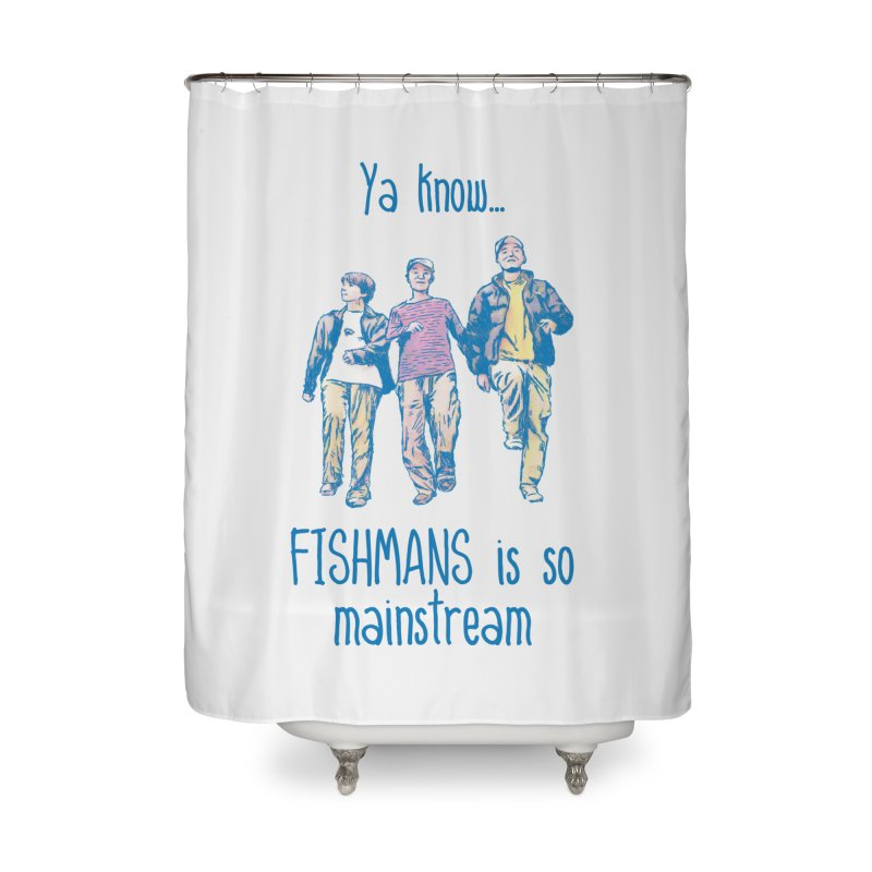 The Mainstreamers Fishmans Home Shower Curtain by JQBX Store - Listen Together