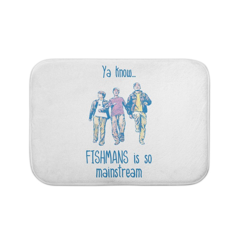 The Mainstreamers Fishmans Home Bath Mat by JQBX Store - Listen Together