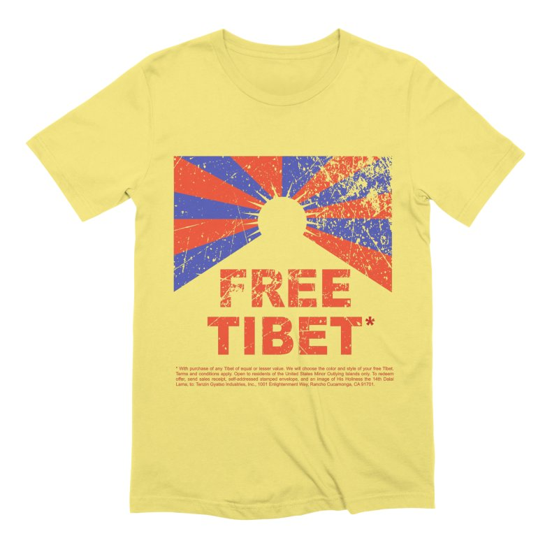 Free Tibet Men's Extra Soft T-Shirt by JQBX Store - Listen Together