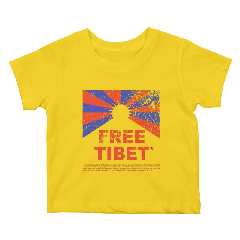 Free Tibet Kids Baby T-Shirt by JQBX Store - Listen Together