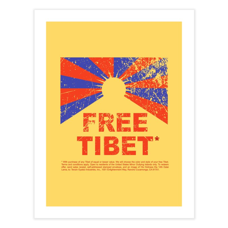 Free Tibet Home Fine Art Print by JQBX Store - Listen Together