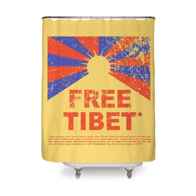 Free Tibet Home Shower Curtain by JQBX Store - Listen Together