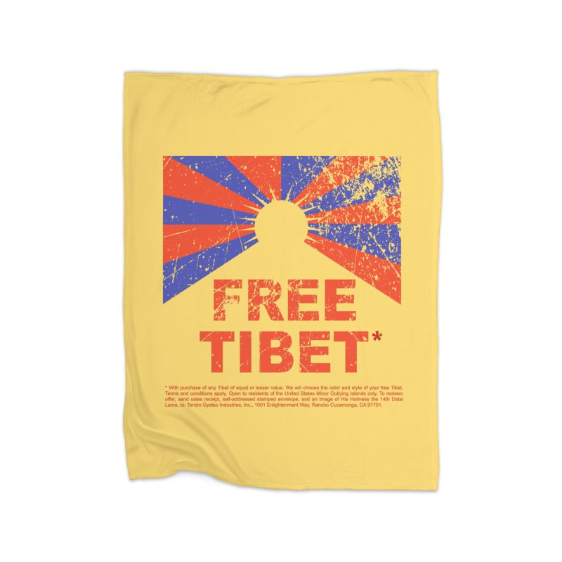 Free Tibet Home Fleece Blanket Blanket by JQBX Store - Listen Together