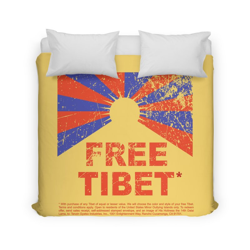 Free Tibet Home Duvet by JQBX Store - Listen Together