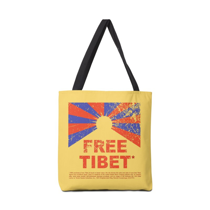 Free Tibet Accessories Tote Bag Bag by JQBX Store - Listen Together