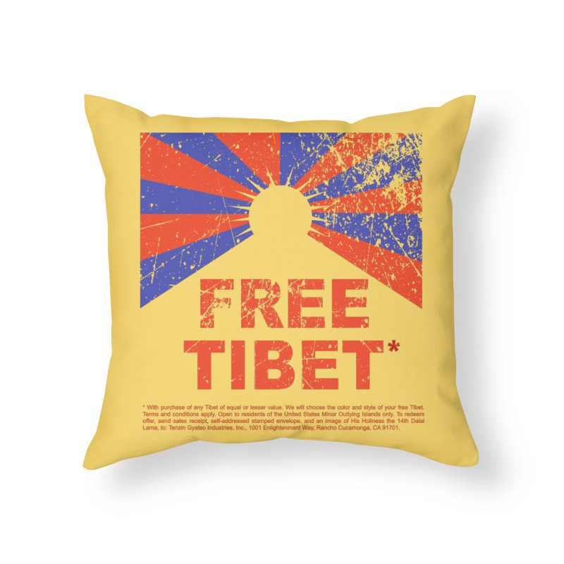 Free Tibet Home Throw Pillow by JQBX Store - Listen Together