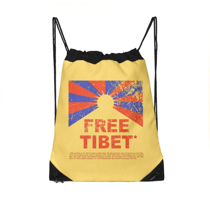 Free Tibet Accessories Drawstring Bag Bag by JQBX Store - Listen Together