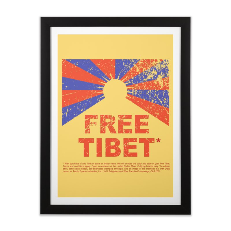 Free Tibet Home Framed Fine Art Print by JQBX Store - Listen Together
