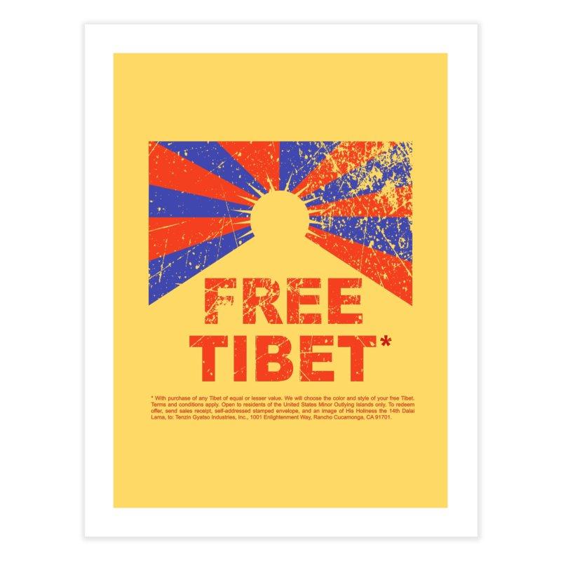 Free Tibet Home Fine Art Print by JQBX Store - Listen Together