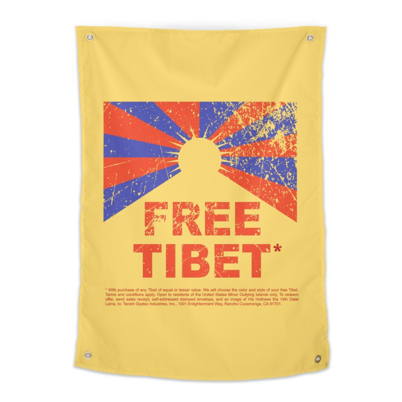 Free Tibet Home Tapestry by JQBX Store - Listen Together