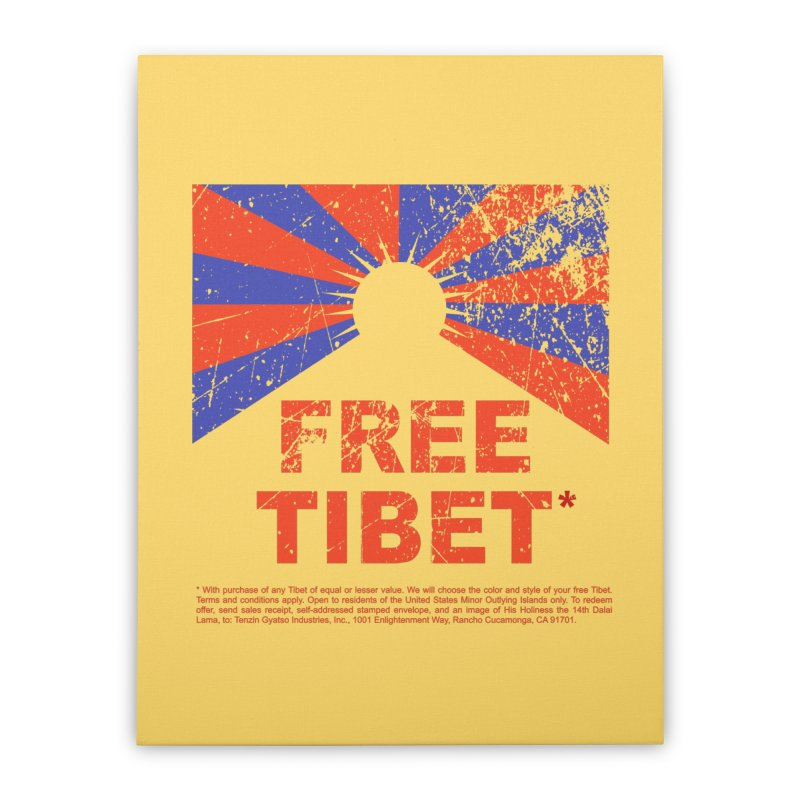 Free Tibet Home Stretched Canvas by JQBX Store - Listen Together