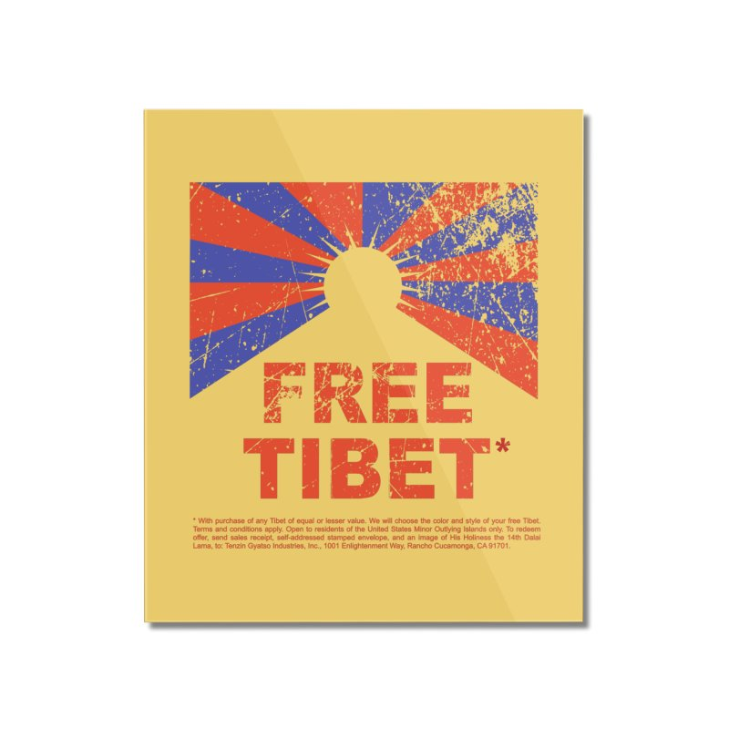 Free Tibet Home Mounted Acrylic Print by JQBX Store - Listen Together