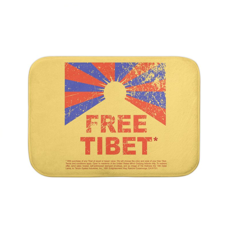 Free Tibet Home Bath Mat by JQBX Store - Listen Together