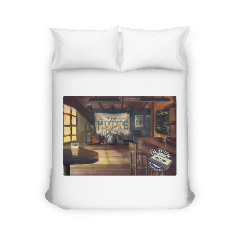 Mixtape Bar Poster Home Duvet by JQBX Store - Listen Together