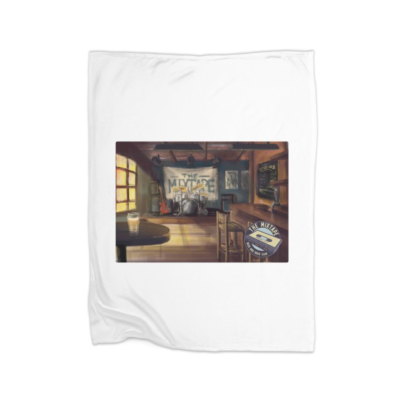 Mixtape Bar Poster Home Blanket by JQBX Store - Listen Together